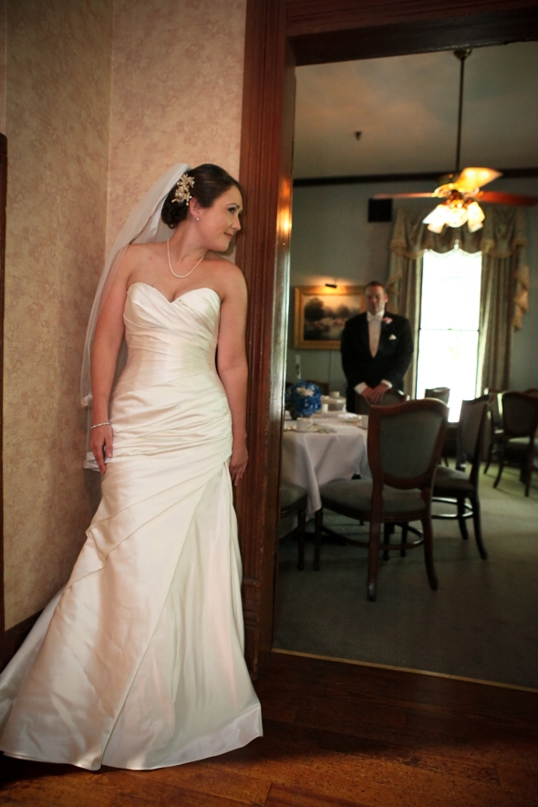 Bride Looking At Groom