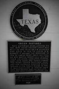 Green Pastures Historical Marker