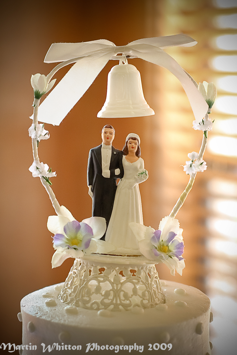more traditional wedding cake topper