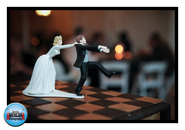 Bride Chasing Groom Cake
