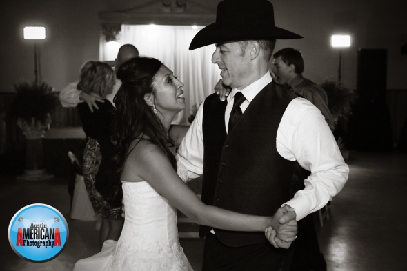 Cowboy wedding hill country