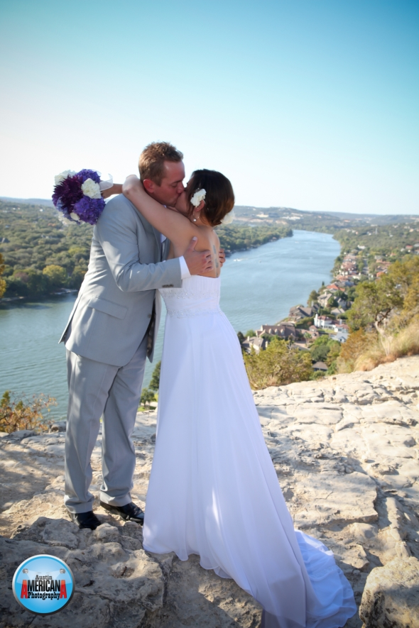 wedding at mt. bonnell